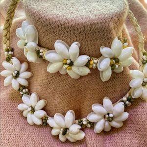 Hawaiian Shell Necklace and Bracelet (A-9)